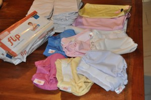 Flip cloth diapers