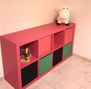 ikea expedit bookcase repainted